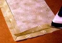 Подкладка к сумке, прогладить швы утюгом