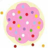 Печенье с розовым кремом