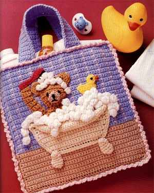 Аппликация мишки Тедди на сумке