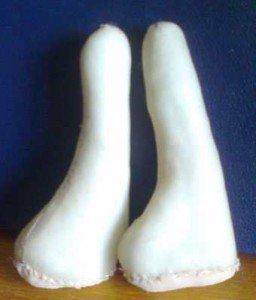 Сшитые ножки для куклы
