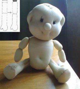 Пришить кукле ручки