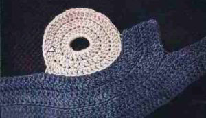Как связать кольцо для шарфа