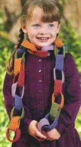 Как вязать цепочки для детского шарфа