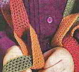 Звенья цепочки детского шарфа