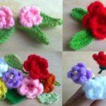 Мелкие разноцветные розы