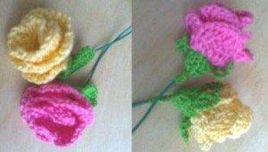 Как связать изящные розы
