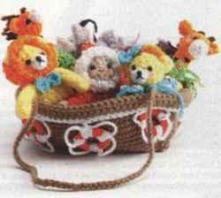 Связанный ковчег с пальчиковыми персонажами