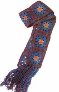 Как связать шарф из мотивов