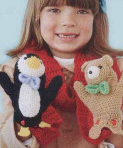 Детский шарф с игрушками