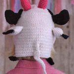 Хвост коровы на шапочке