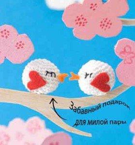 Как связать крючком белую птичку амигуруми