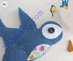 Шестой этап шитья птицы