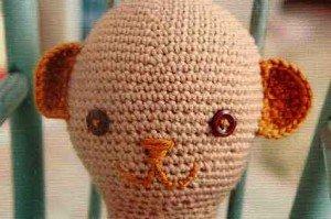 Связанная крючком Голова игрушки с Ушами