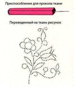 Перевод рисунка способом «припорох»