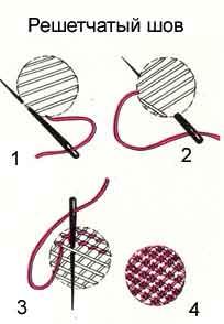 Как вышивать решетчатым швом
