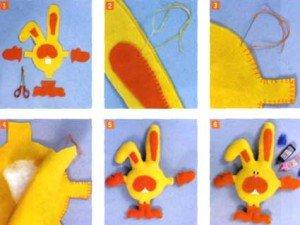 Поэтапные инструкции шитья Кролика