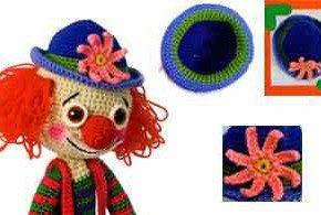 Цветок на шляпе клоуна