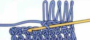 Продолжить вязание длинных петель