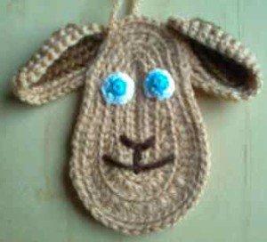 Вышить нос и рот на связанном лице овцы