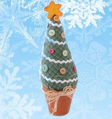 Новогодняя елка в горошек