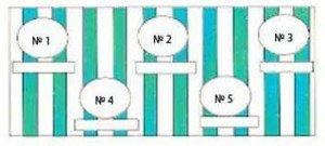Схема переднего чехла для вешалки