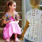 Летний жилет и болеро для девочки