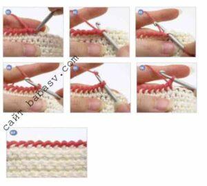 Связанное кружево крючком окантовка
