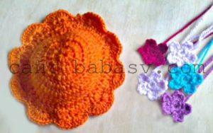 Цветы и шляпа для осьминога