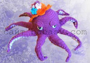 Описание вязания крючком осьминога