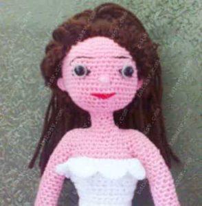 Как связать оборку на платье невесты