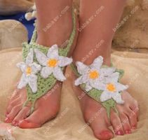 Ромашки на ногах