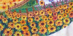 Как вышить цветы подсолнуха