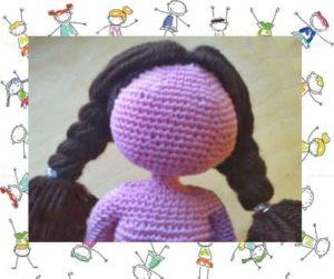 Волосы для куклы из пряжи