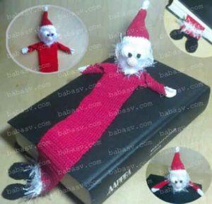 Закладка для книг в виде деда Мороза