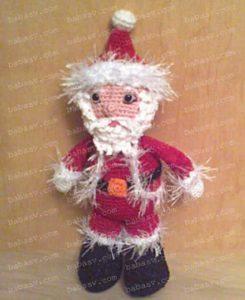 Как связать крючком красивого Деда Мороза