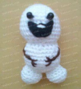 Как связать крючком маленького снеговика