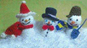 Как связать разных снеговиков