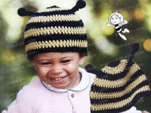 Связанная крючком шапочка пчелиная