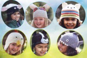 Как связать крючком шапочки детям