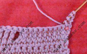 Цепочка как основание плотного вязания