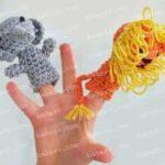 Как связать крючком пальчиковые игрушки слона и льва