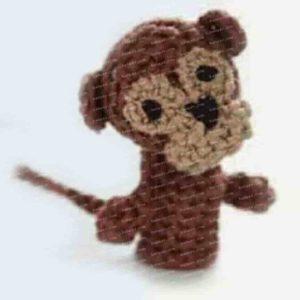 Как связать крючком пальчиковую игрушку обезьяну