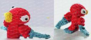 Как связать крючком пальчиковую игрушку попугая