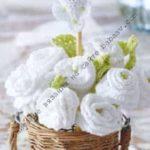 Как связать свадебные розы