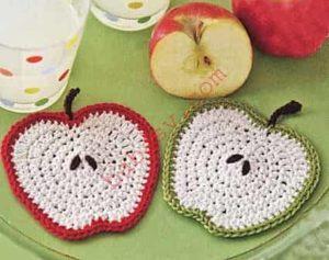Как вязать яблочные подставки