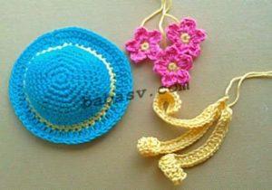 Как связать шляпу с цветами