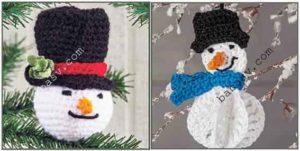 Связать снеговика крючком