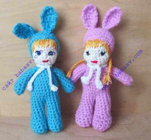 Куклы с ушами кроликов
