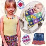 Одежда детям из бабушкиных квадратов