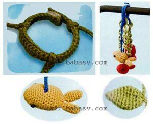 Детали мобильной рыбной игрушки